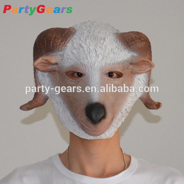 Latex Rubber Goat Head Mask