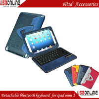 Colorful Detachable 3.0 Bluetooth Keyboard case for ipad mini 2 ipad mini2