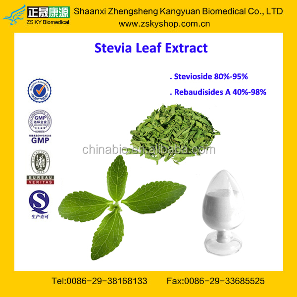 GMP Certified Factory Supply Bulk Pure Stevia Extract