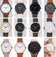 Promotional Men watch jewelry high quality vogue leather watch gold watch