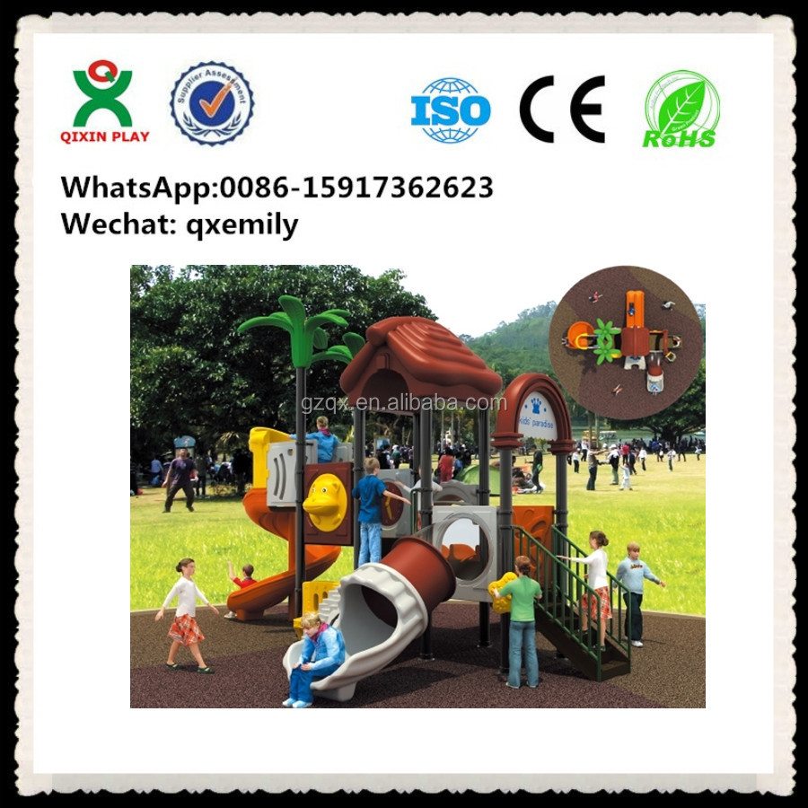 Outdoor big children toys gametime playground commercial play structures QX-021A