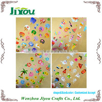 transparent plastic sticker sheet for decoration