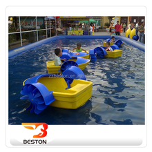 Beston cheap plastic small hand pedal boat kids mini hand paddle boats for sale