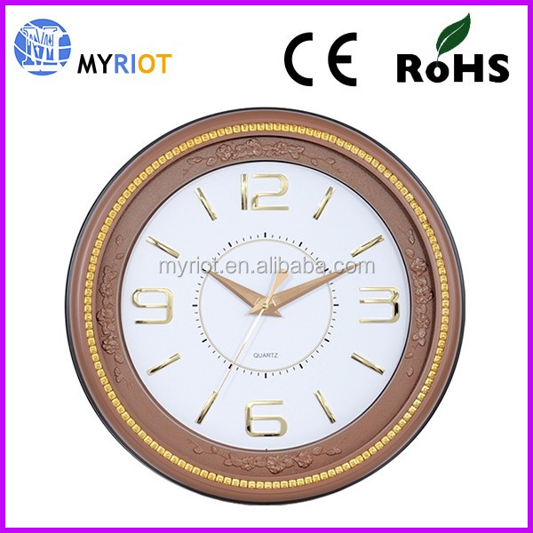 Big Size OEM / ODM Customized wooden-Like Wall Clock