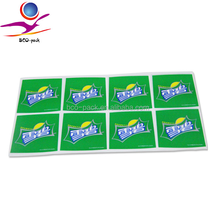 full color privat label juice sticker printing