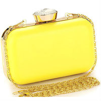 N115 original lady party box clutch 2014 evening bags with chain