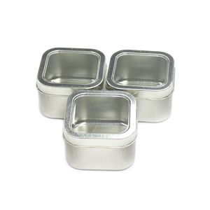 Watch Gift Packaging Square PVC Window Metal Tin Box