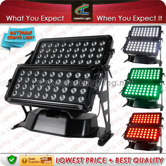 Outdoor IP65 Waterproof High Power 72pcs x 10W RGBW 4-in-1 led new wall washer led city color lights