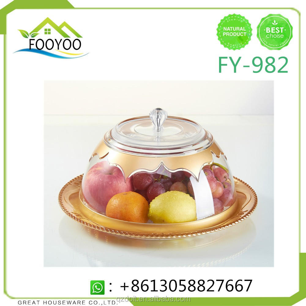 FY-982 dry fruit plate acrylic fruit plate with lid fruit tray