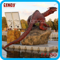 Water park high quality animatronic dragon model