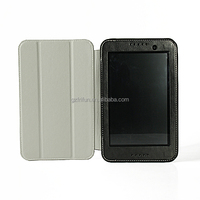 Black business style tablet leather flip case for lenovo a3500