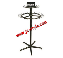 POP black color metal belts and tie display stand/shop sales clothes accessories display rack/metal revolving display shelf