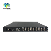 Professional digital cable TV equipment 8 tuner input multi free tv channel receiver ird with BISS and 16/32 apsk