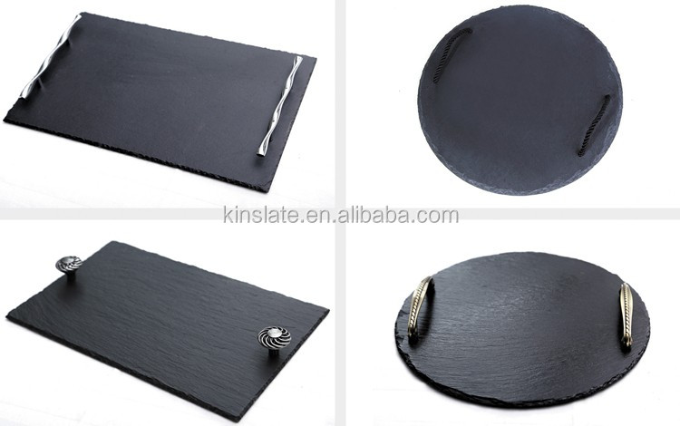 Factory large rectangle slate serving tray with high design