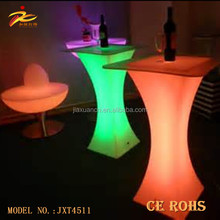 battery luminous glowing cocktail table night club lighting illuminated led table