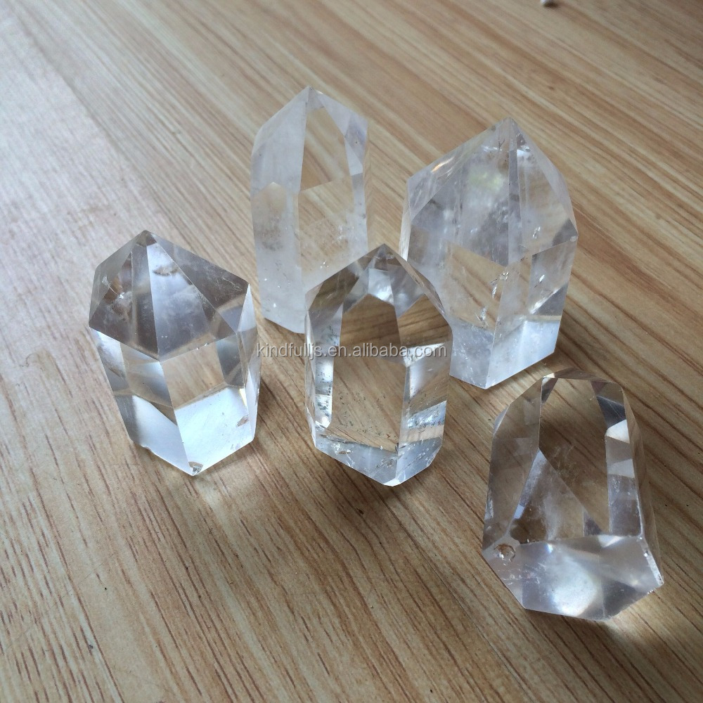 Natural High Quality Small Sized Clear Crystal Stone Wands Points Sanative Crystal