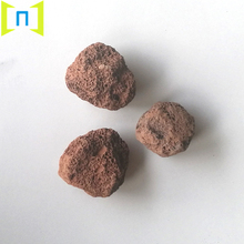 wholesale natural red volcanic stone