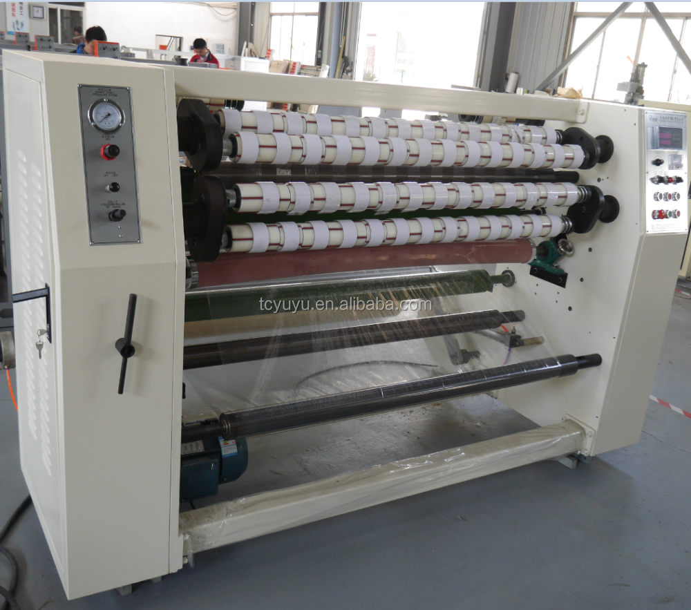 YU-210 BOPP Adhesive Packing Tape Slitting Machine/BOPP Jumbo Roll To Small Roll Machinery
