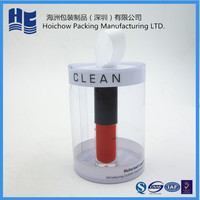 plastic packaging PP PET PVC PS tube cylinder for brush pot