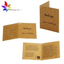 Customized printed <strong>logo</strong> hang tag foldable paper label for clothing cosmetics garment jewelry