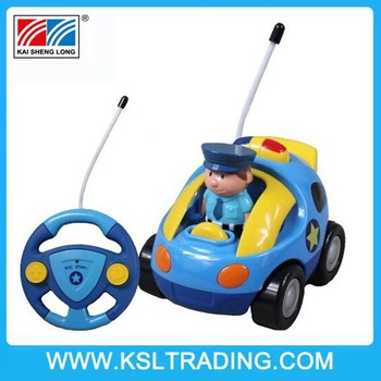Cartoon R/C Police Car Toy Radio Control Toy for Toddlers