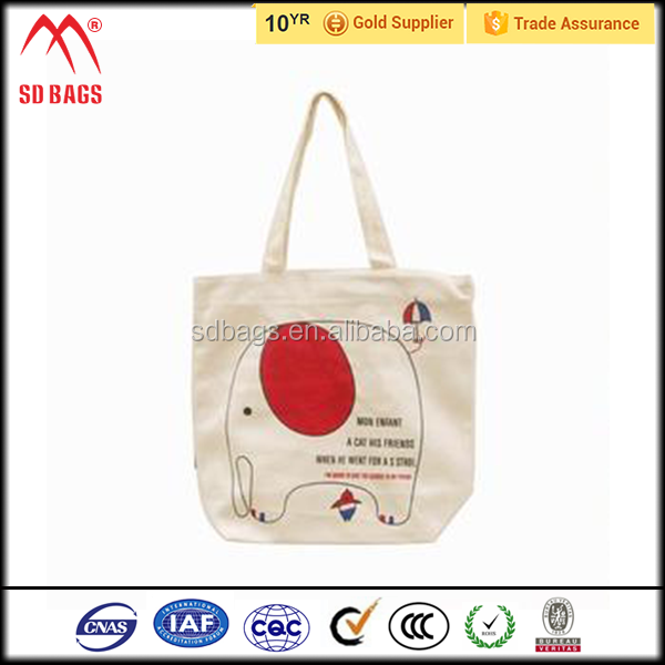 2015 factory custom promotional waterproof cheap cotton cloth bag