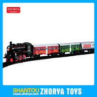Russian language packing High simulation Funny Battery operated classical music and light up trains model Railway toys
