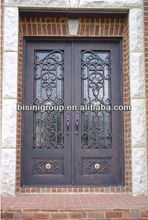 Bisini luxury design wrought iron double entry door (BG90057)