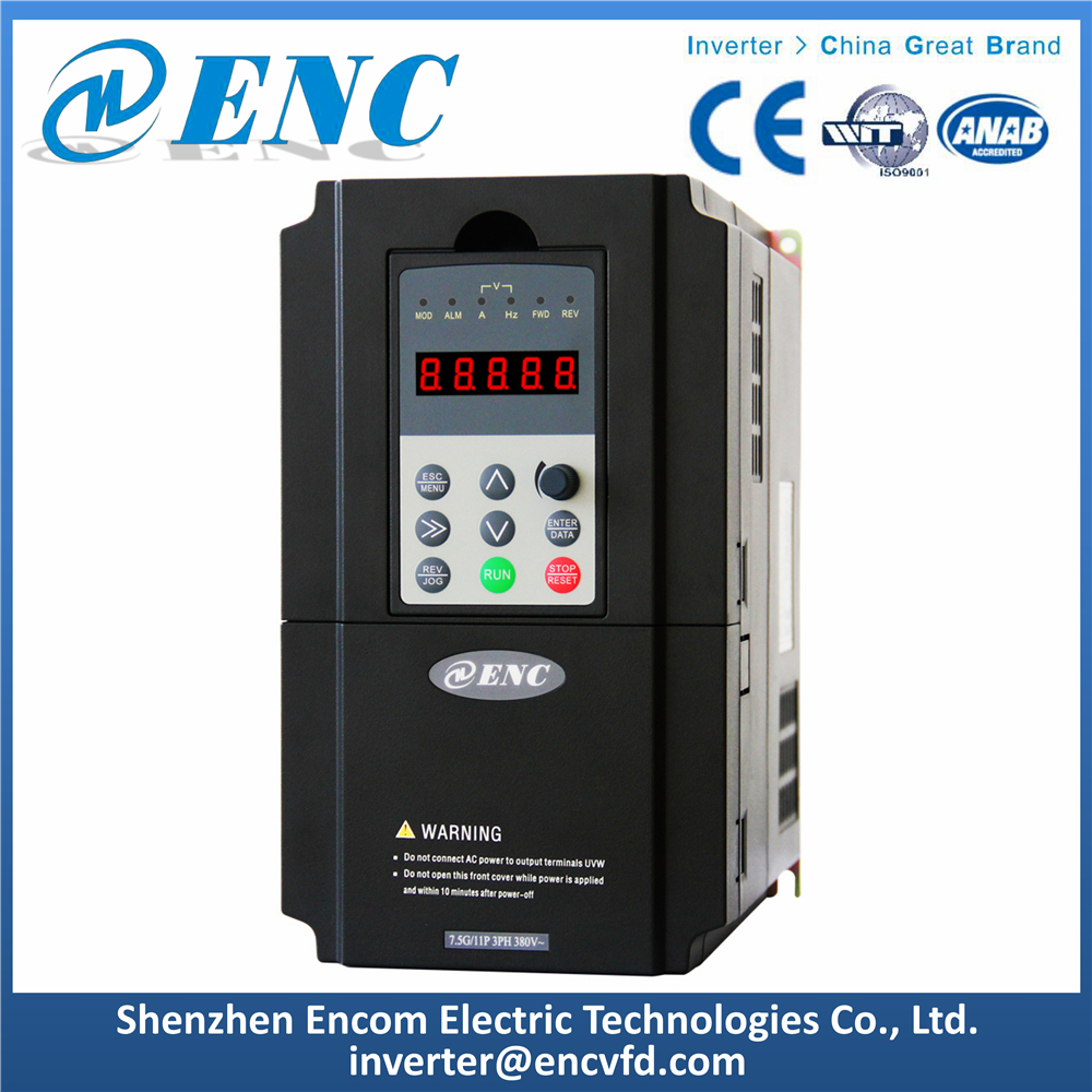 3PH 380V 7.5kW Inverter Easy Operate AC Drive with Remote Control Keyboard