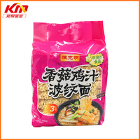 Non fried mushroom chicken flavour instant noodles