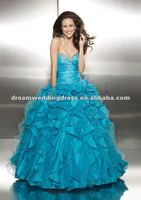 2012 Best Sale Organza Sheer Lace Ball Gown Patterns Quinceanera Dresses