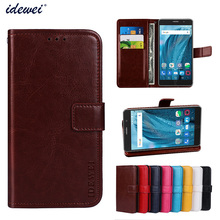 Luxury Flip PU Leather Wallet Mobile phone Cover Case For ZTE A910 with Card Holder