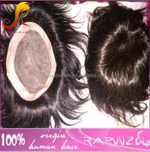 6 inches natural indian hair toupee for men