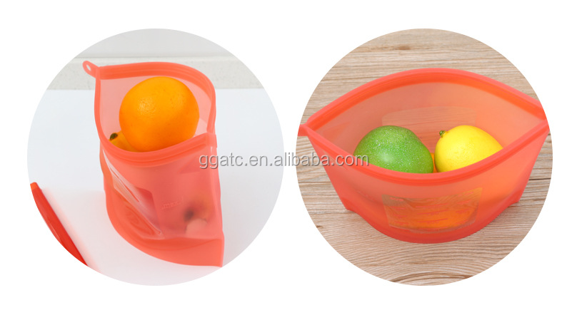 Frozen silicone food preservation bag can store refresh the food , and hottest selling !