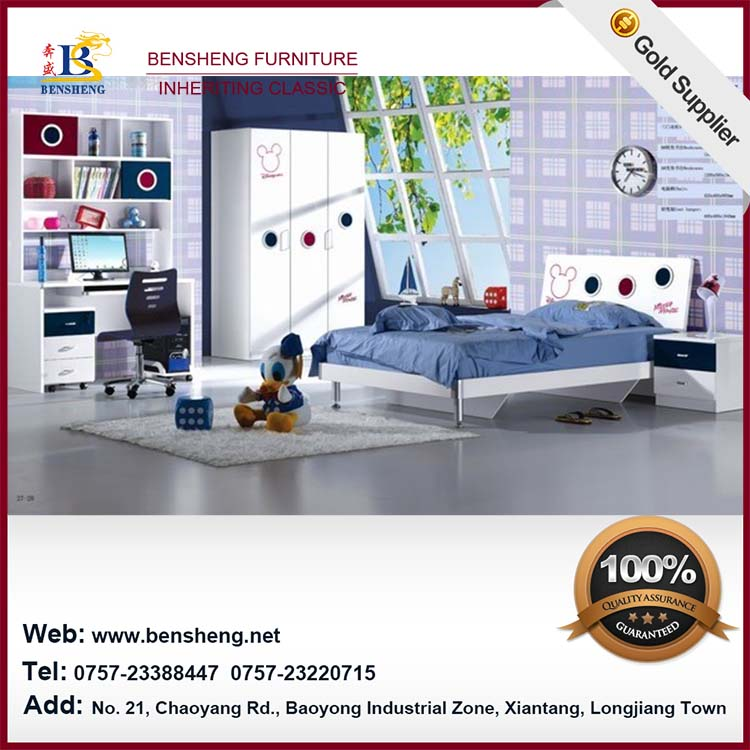 B10 new design lovely furniture kids bedroom set