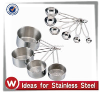 10 piece Wire handles Stainless Steel Nesting Measuring Cups and Spoons Set