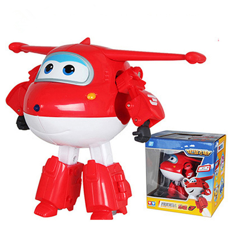 China toy factory promotion ABS Super Wings Deformation Airplane Robot Action Figures toys for childre