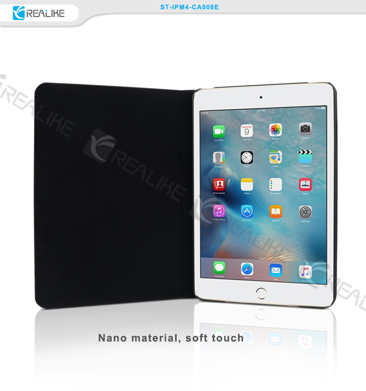 High quality pu leather stand tablet case for apple new products for ipad mini4