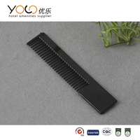 bulk sales black plastic mens hair comb