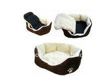 Cashmere-like soft warm Pet Bed Pet Nest luxury Dog nest Luxury warm round