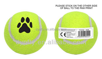 Natural and durable rubber pet toys ball tennis balls
