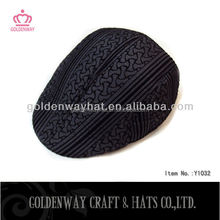 men's newsboy black ivy hat