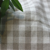 The European and American wind plaid cotton and linen fabric
