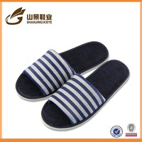 Terry towel with customized logo and free design bedroom slipper
