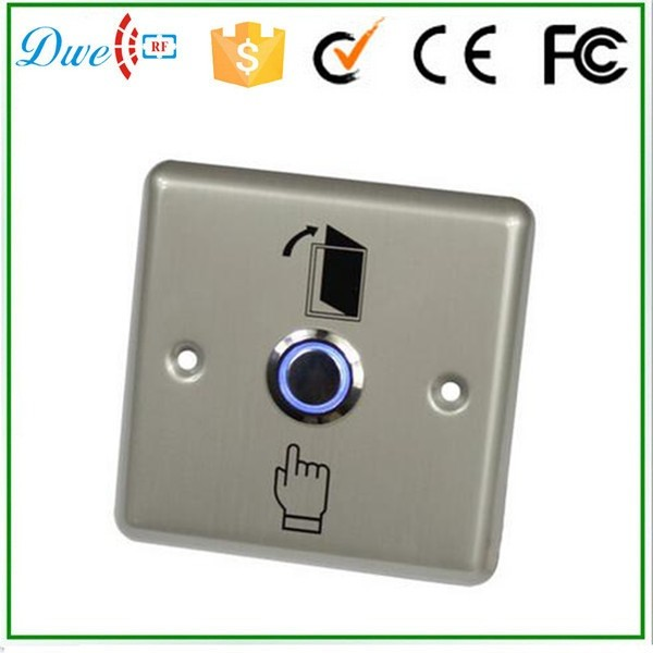 Stainless steel push button switch with blue led light no nc com
