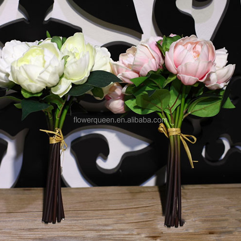 Dry Artificial Peony Flower For Party Wedding Decoration Mother'S Day Gift Vintage Fake Flowers Bouquet