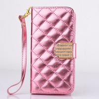 Fashion Luxury Bling Diamond Wallet Stand Flip Leather PU Cheap Phone Case For Samsung Galaxy S4 i9500