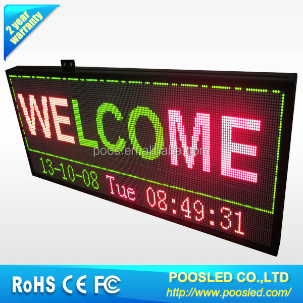 LED Scrolling message display sign