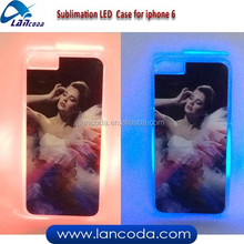 NEW fashion Sublimation LED Case for iphone6,sublimation LED phone case,sublimation LED cover