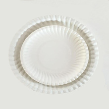 100% Biodegradable Wedding Cake Paper Plate, Bulk Paper Plate,Disposable Plates &plastic Fork set Tableware